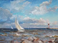 Ветер на заливе. Автор: С.М. Сильченко