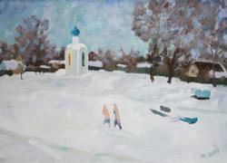 На Портовом канале зимой. Автор: Н.А. Карлыханов