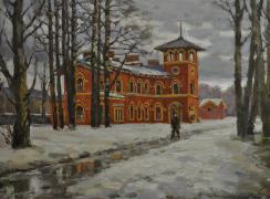 Вокзаал Стрельна. Автор: В.И. Слепухин