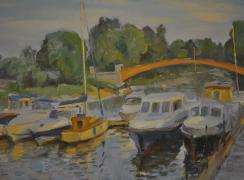 Стрельна. Яхт-клуб, перед закатом. Автор: И.П. Баклушин