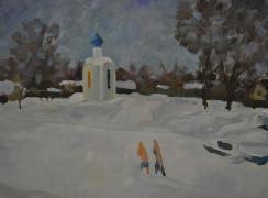 Часовня Николая Чудотворца на Портовом канале. Автор: Н.А. Карлыханов
